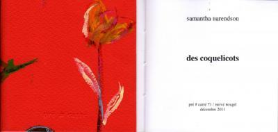 Couverture du recueil 'Des coquelicots'