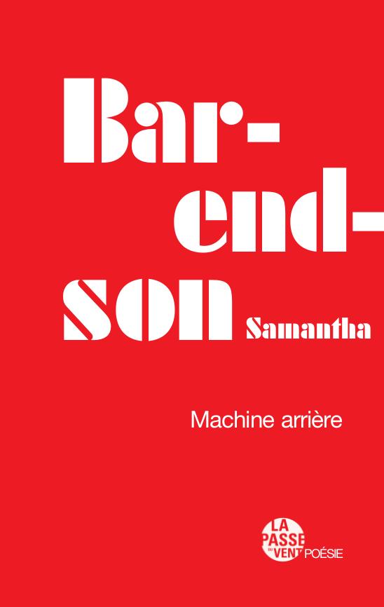 Couverture du recueil 'Machine arrière'