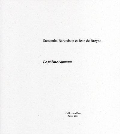 Couverture du recueil 'Le poème commun'