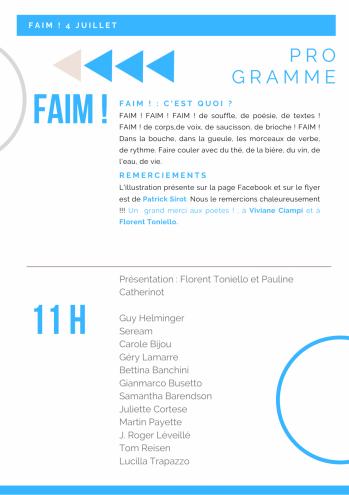 Programme faim0407